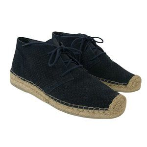 Dolce Vita Size 7 Blue Suede Flat Espadrille Boot
